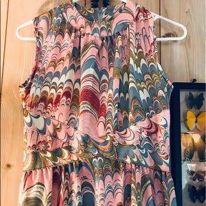 Vintage Leslie Faye abstract midi dress